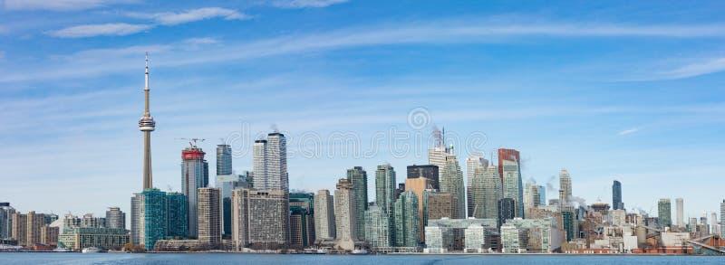 Vista di panorama della città del centro di Toronto sul Canada fotografie stock libere da diritti
