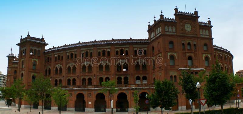 Vista di panorama della plaza de torros, arena a Madrid, Spagna immagine stock libera da diritti