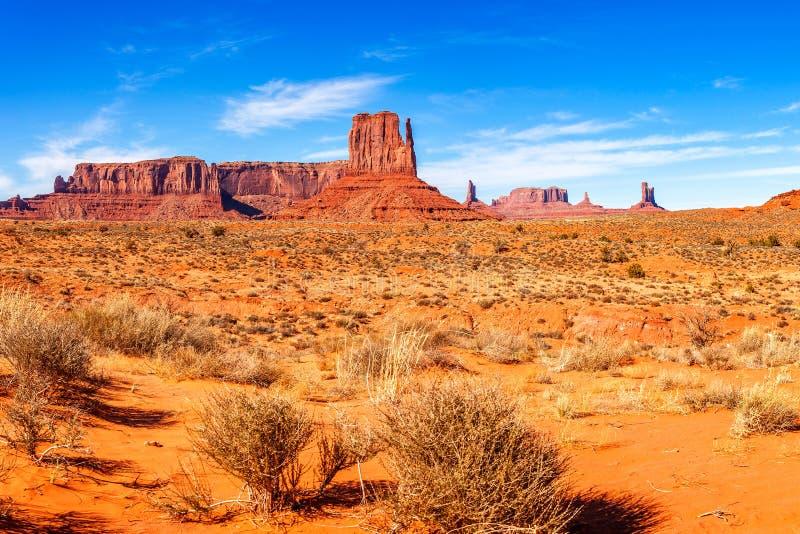 Vista di panorama della valle del monumento fotografia stock libera da diritti