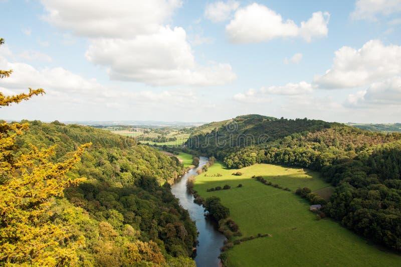 Vista di panorama di autunno di Symonds Yat in Herefordshire fotografie stock