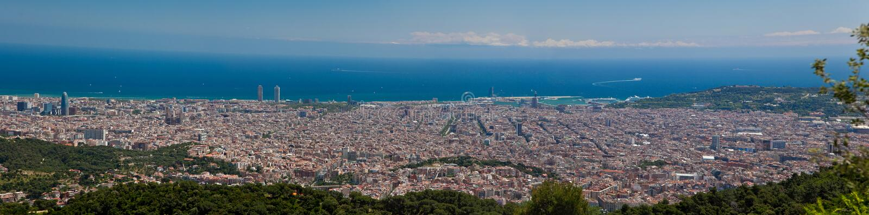 Vista di panorama di Barcellona fotografie stock