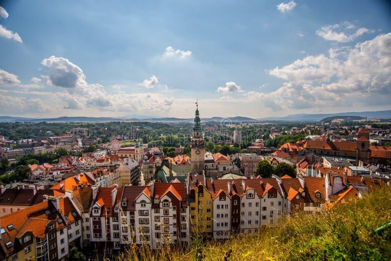 Vista di panorama di Klodzko fotografie stock libere da diritti
