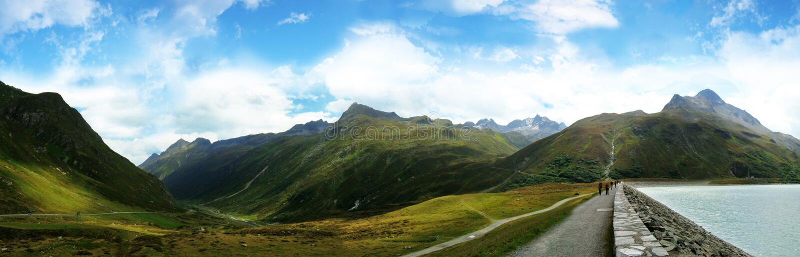 Vista di Panoramatic dal silvretta fotografia stock libera da diritti