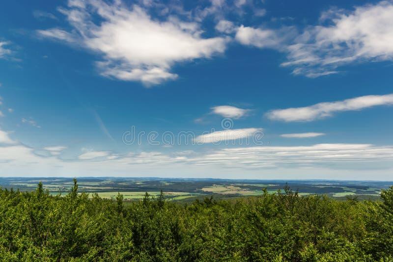 Vista di Panoramatic della Boemia del sud e del paesaggio circostante, repubblica Ceca fotografia stock libera da diritti