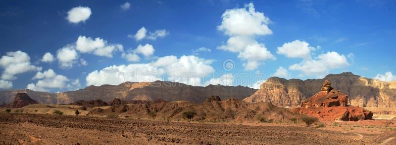 Vista di Panoranic di Timna fotografie stock libere da diritti