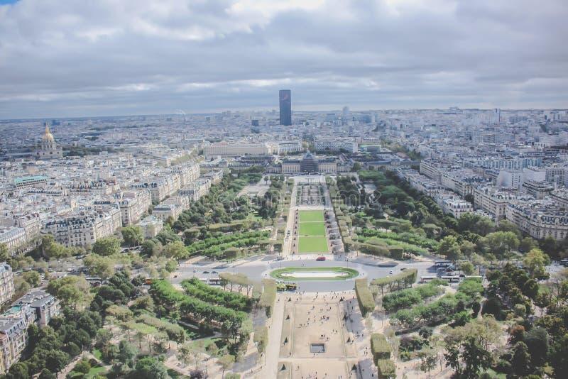 Vista di Parigi dalla torre Eiffel - Francia fotografia stock