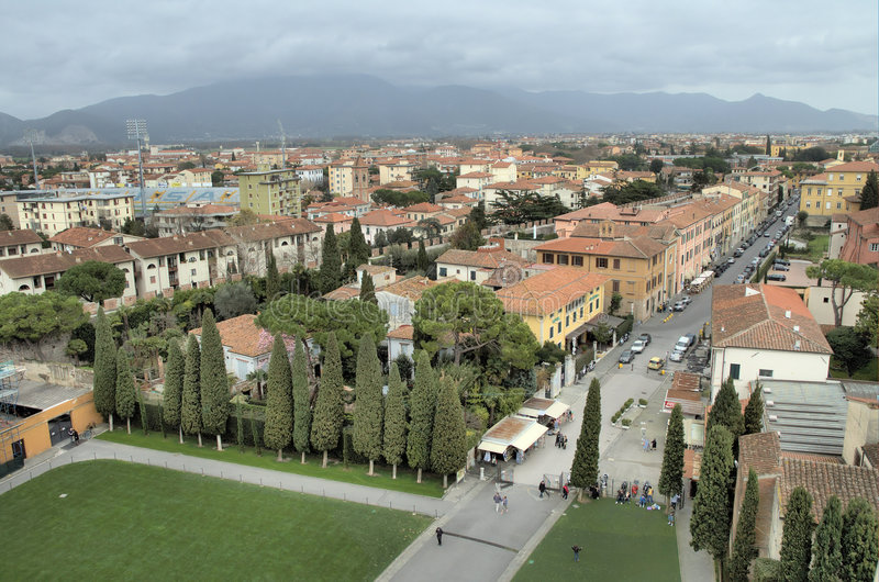 Vista di Pisa immagine stock
