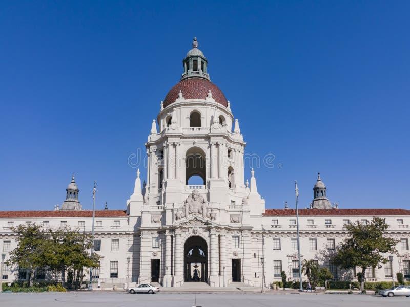 Vista di pomeriggio di bello comune di Pasadena a Los Angeles, California fotografie stock libere da diritti