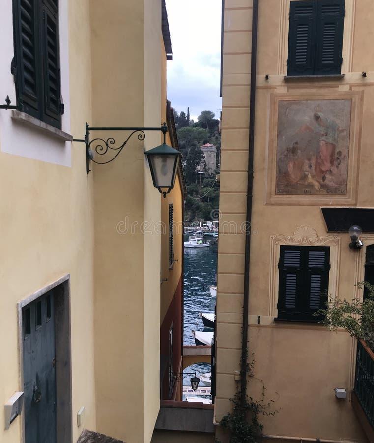 Vista di Portofino immagini stock