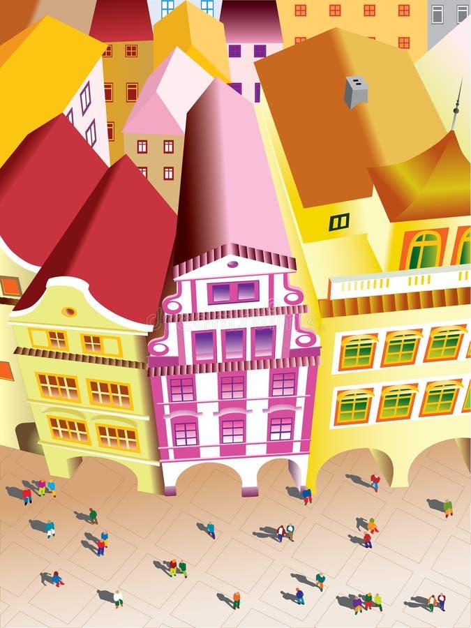 Vista di Praga royalty illustrazione gratis