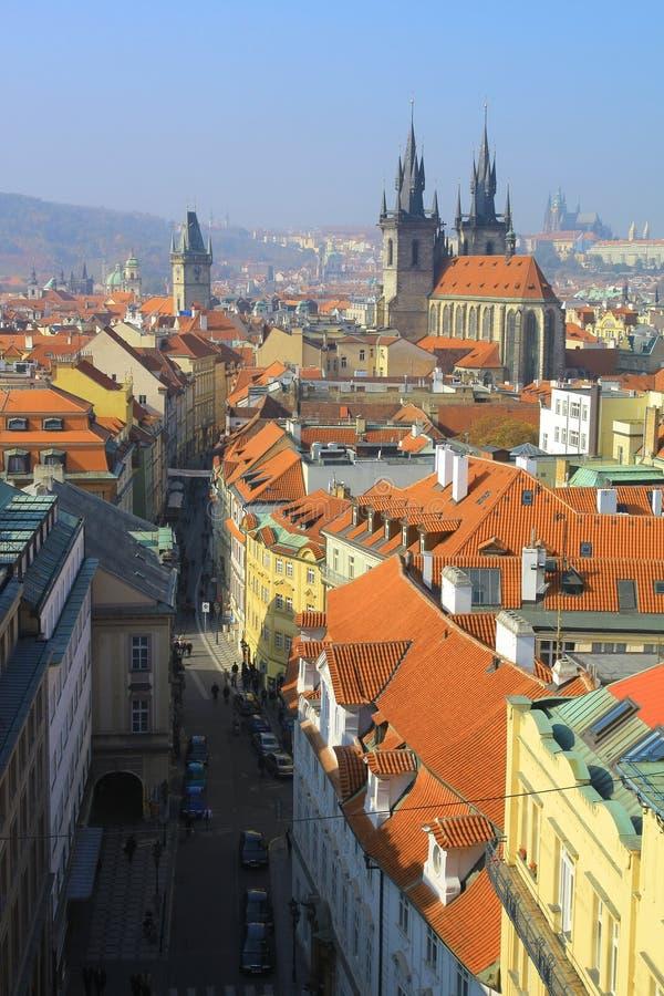 Download Vista di Praga fotografia stock. Immagine di rosso, ceco - 7308488