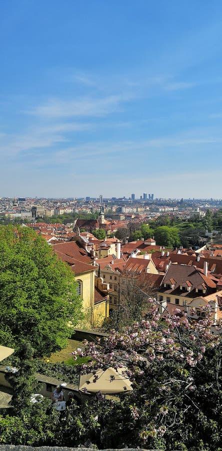 Vista di Praga dal castello fotografie stock libere da diritti