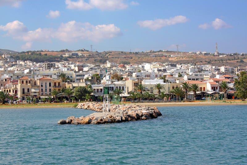 Vista di Rethymno, Crete fotografia stock libera da diritti