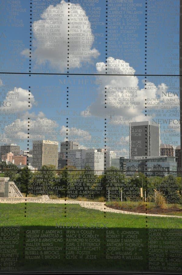 Vista di Richmond, la Virginia, da Virginia War Memorial immagine stock libera da diritti