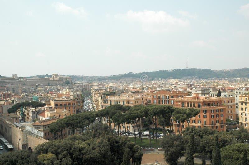 Vista di Roma fotografie stock libere da diritti
