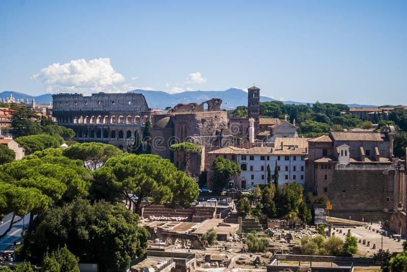 Vista di Roma dalla cima fotografia stock