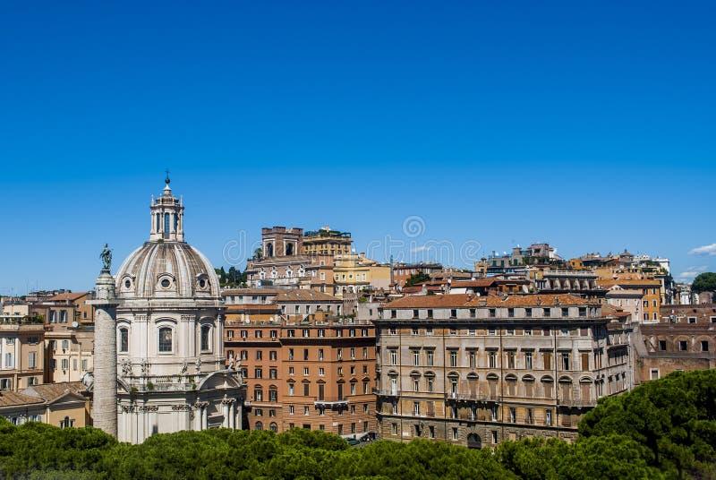 Vista di Roma dalla cima immagine stock libera da diritti