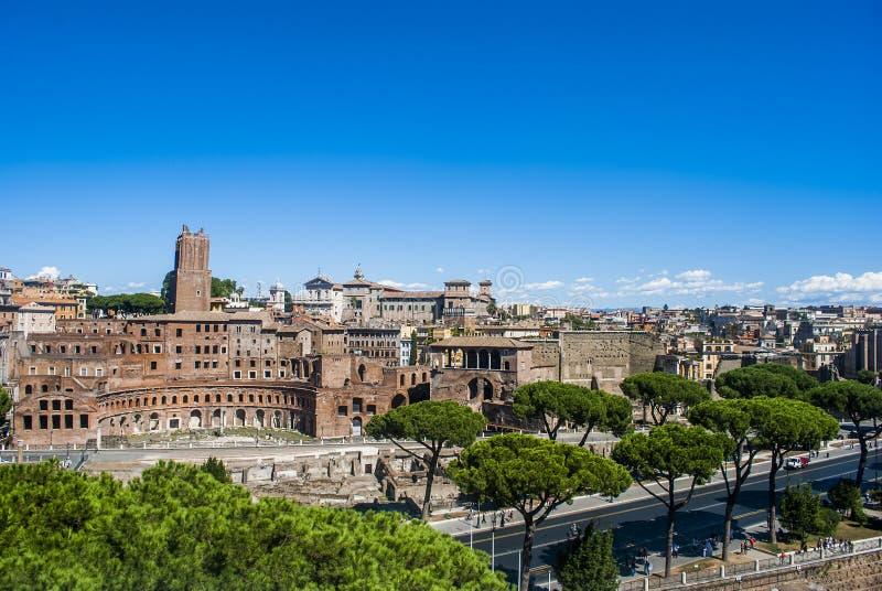 Vista di Roma dalla cima fotografie stock