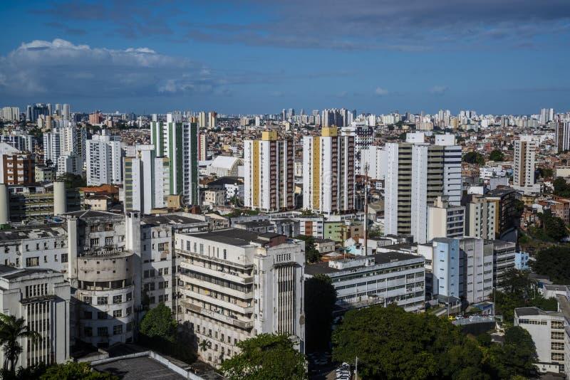 Vista di Salvador centrale, Salvador, Bahia, Brasile immagini stock