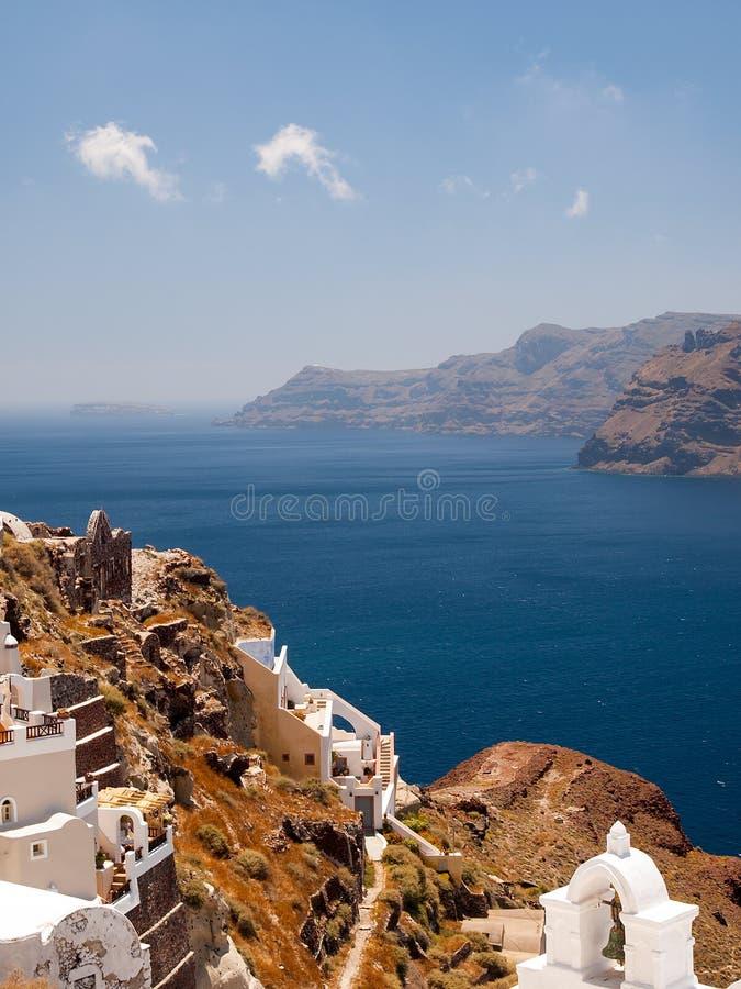 Vista di Santorini immagini stock