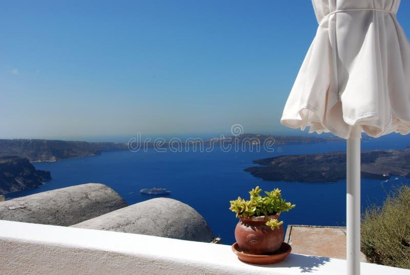Vista di Santorini fotografia stock