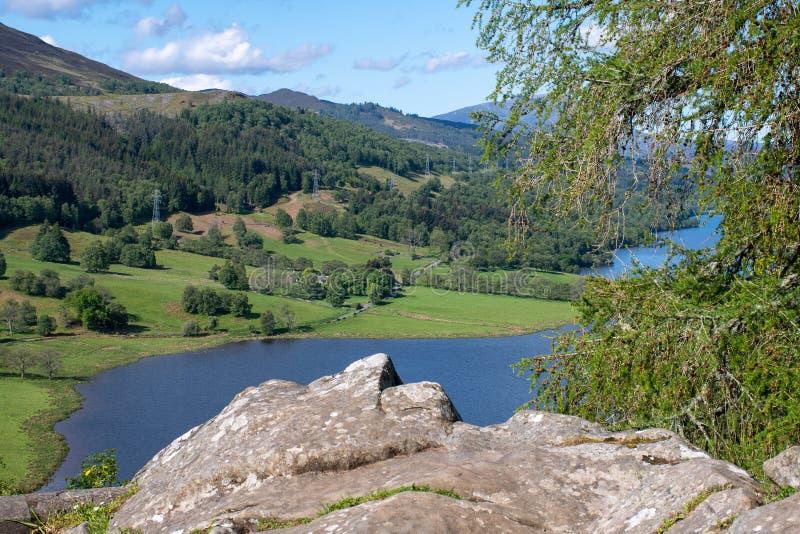 Vista di Scottish Loch Tummel Pitlochry immagine stock