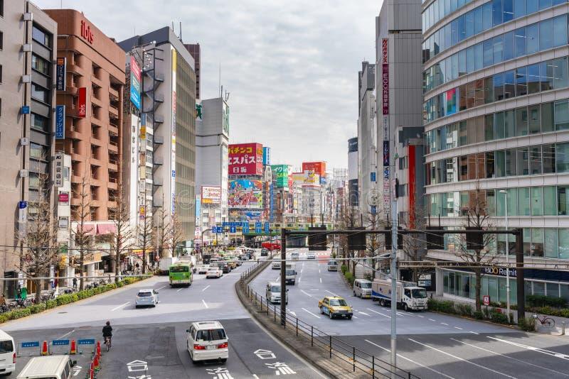Vista di Shinjuku a Tokyo fotografia stock