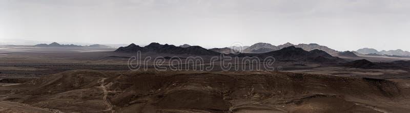 Vista di Sinai dall'Israele fotografia stock