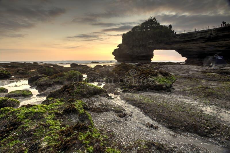 Vista di Snenic della spiaggia in Bali fotografie stock