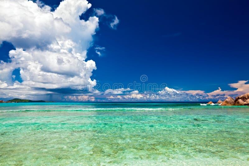 Vista di sogno di vista sul mare fotografia stock