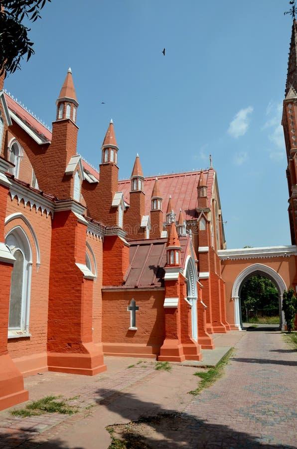 Vista di St Mary rinnovato la cattedrale vergine Multan Pakistan della chiesa fotografie stock