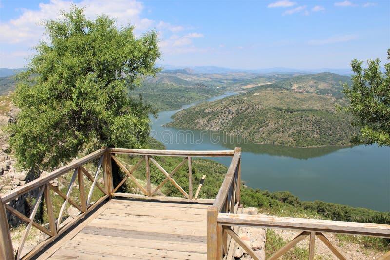 Vista di stupore da Pergamon, Ä°zmir della Turchia fotografia stock libera da diritti
