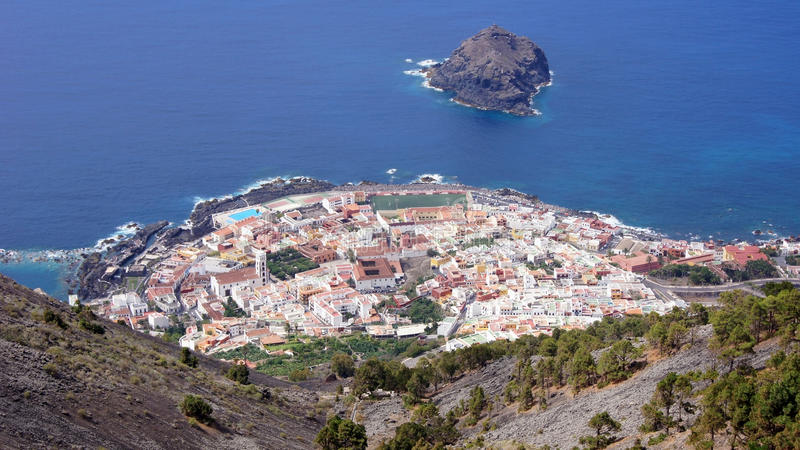 Vista di Tenerife fotografia stock