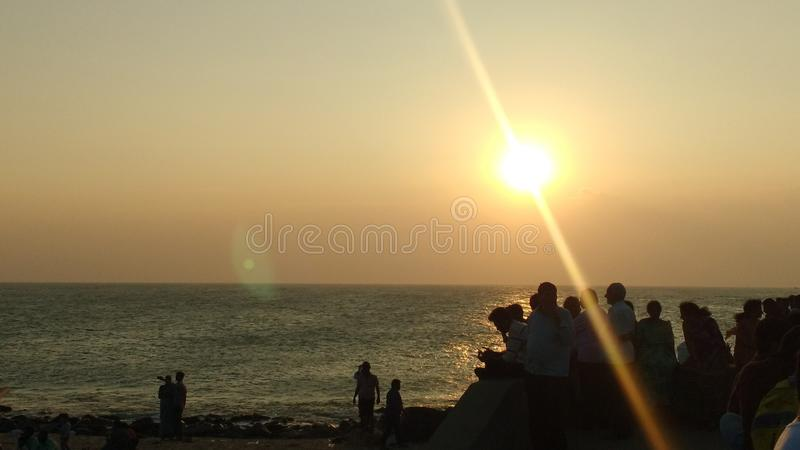 Vista di tramonto immagine stock libera da diritti