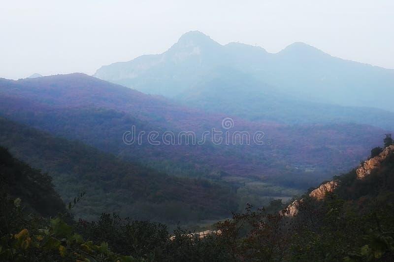 Vista 6 di tramonto del Monte Song immagine stock libera da diritti