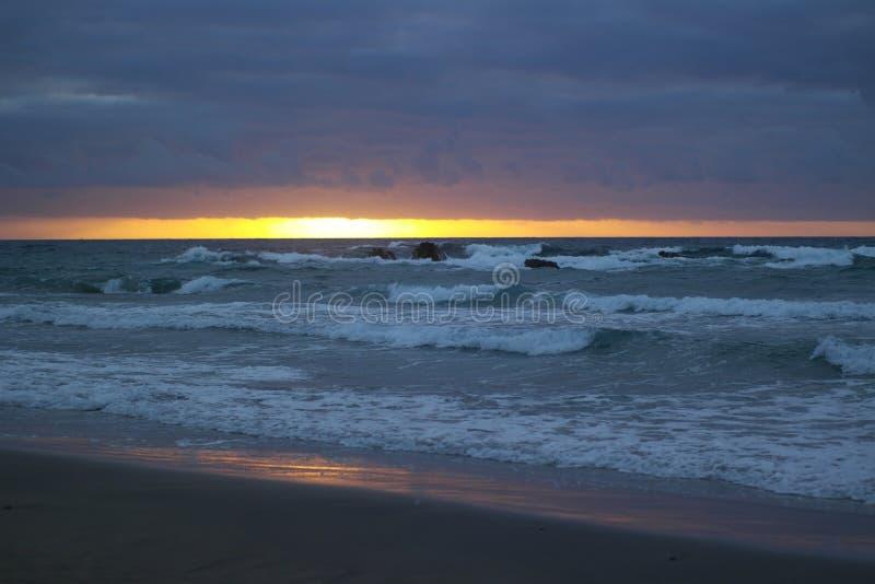 Vista di tramonto sbucciata La immagini stock