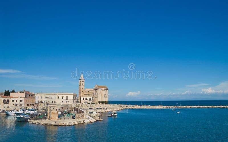 Vista di Trani La Puglia L'Italia fotografia stock libera da diritti