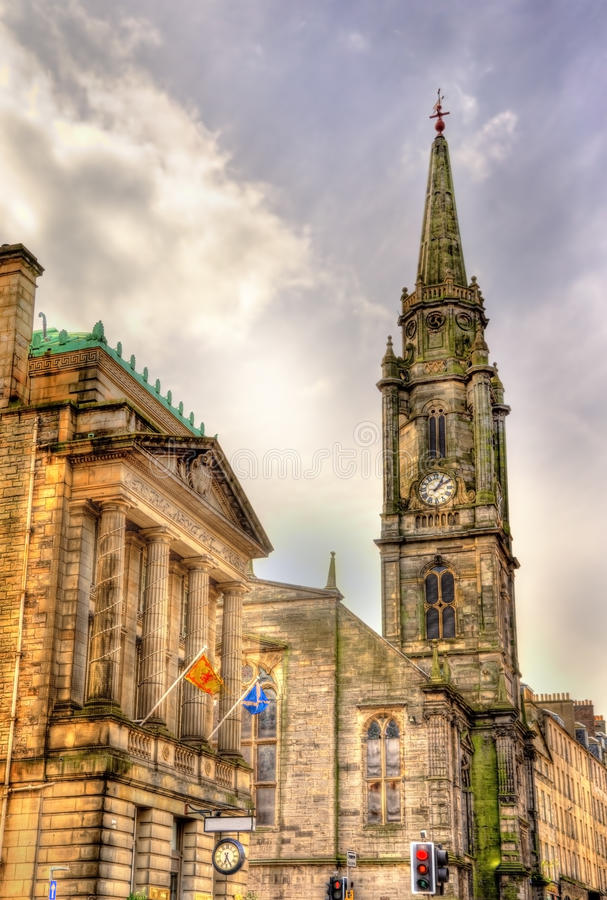 Vista di Tron Kirk a Edimburgo fotografia stock libera da diritti
