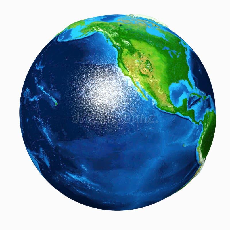 Download Vista Di U.S.A. Della Terra Illustrazione di Stock - Illustrazione di incandescenza, cartografia: 30829372