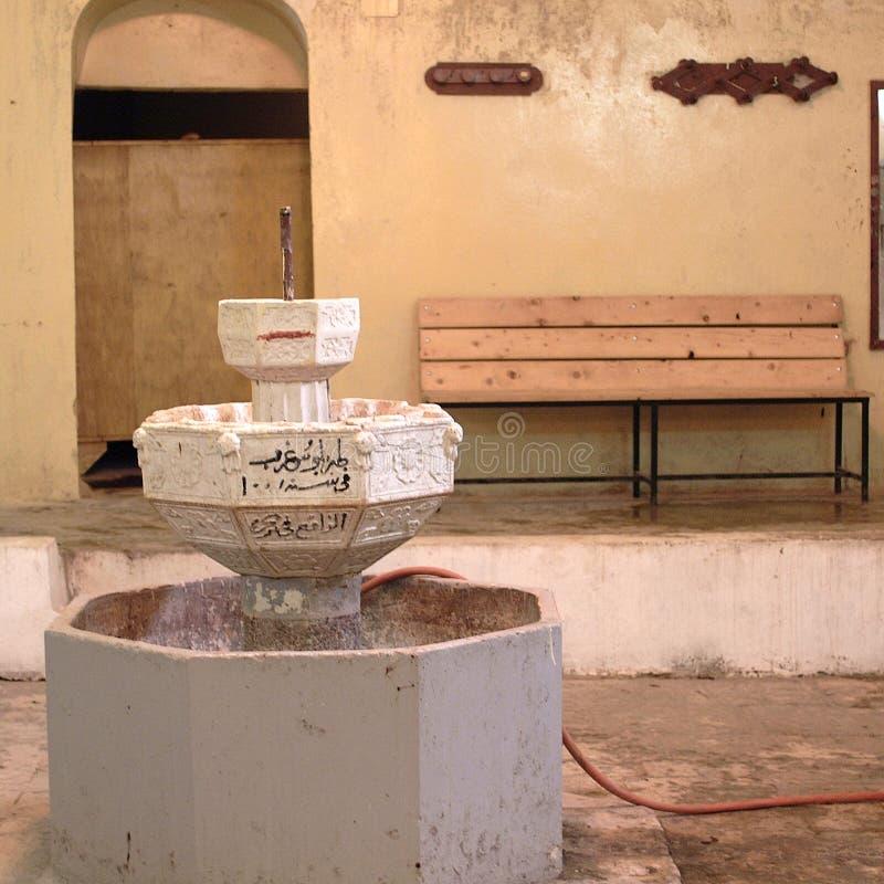 Vista di un interno di bagno turco immagine stock