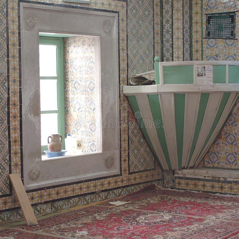 Vista di un interno della moschea fotografia stock