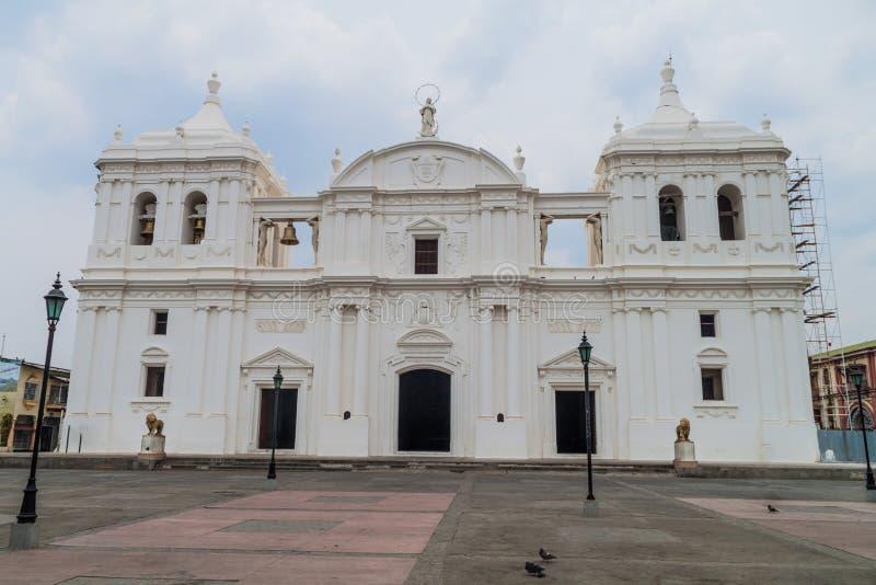 Vista di una cattedrale a Leon, Nicarag immagine stock libera da diritti