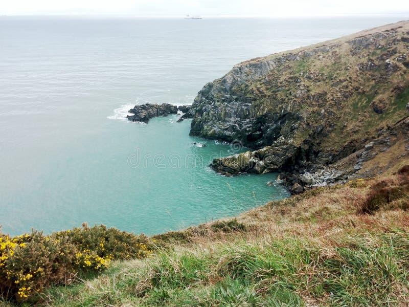 Vista di una scogliera in Irlanda fotografia stock libera da diritti