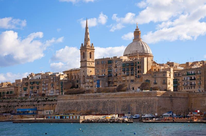 Vista di Valletta fotografie stock