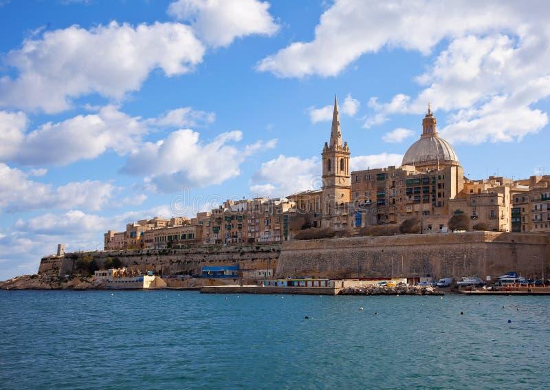 Vista di Valletta immagini stock