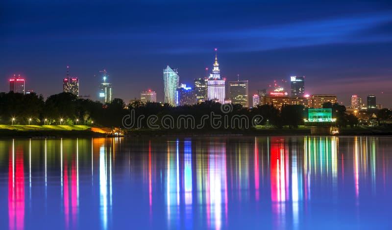 Vista di Varsavia del centro fotografia stock