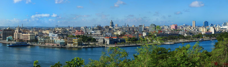 Vista di vecchia Avana in Cuba fotografia stock libera da diritti