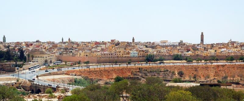 Vista di vecchia città di Meknes fotografia stock libera da diritti
