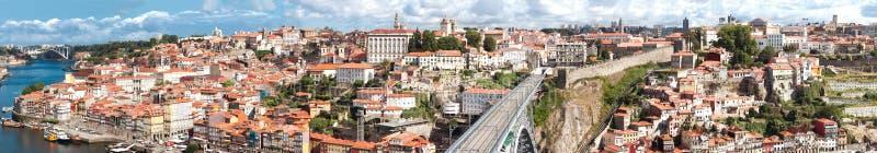 Vista di vecchia città di Oporto, Portogallo fotografia stock libera da diritti