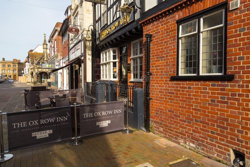 Vista di vecchia città di Salisbury, Regno Unito fotografia stock